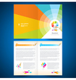 booklet catalog brochure paint brush colorful vector image vector image