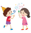 boy and girl at party vector image vector image