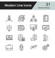 business startup icons modern line design set 31 vector image