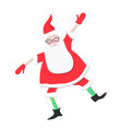 cartoon dancing santa claus vector image