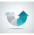 circle arrow for infographic diagram graph vector image vector image
