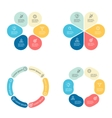 Circular infographics with 6 sections vector image vector image