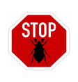 cockchafer traffic sign vector image vector image