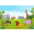 Collection animal africa in the jungle vector image vector image