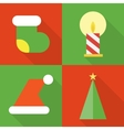 collection christmas icons vector image
