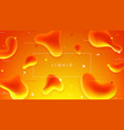 colorful banner with abstract liquid shapes vector image vector image