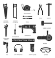 construction tools icons set vector image vector image