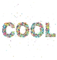 cool word consisting of colored particles vector image