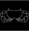 crab the white path icon vector image vector image