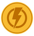 electricity coin vector image vector image