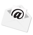 envelope letter with shadow on a white background vector image vector image