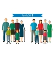 Family icons set Traditional culture national vector image