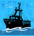 fishing ship vector image