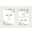 floral wedding invitation botanical card vector image