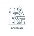 foreman line icon linear concept outline vector image vector image