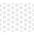 gambling dices seamless pattern on white vector image