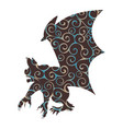 gargoyle chimera pattern silhouette ancient vector image vector image