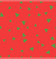 green christmas tree on a red background seamless vector image vector image