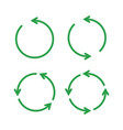 green reusable arrow icons eco recycle or vector image vector image