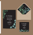 hand drawn wedding eucalyptus vector image vector image