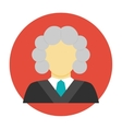 Judge avatar flat icon vector image vector image