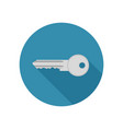 key icon in flat style vector image vector image
