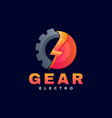 logo gear gradient colorful style vector image