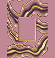 Luxury pink and gold marbling template