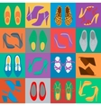 mens and womens shoes vector image vector image