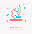 microscope thin line icon vector image