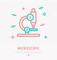 microscope thin line icon vector image vector image