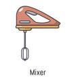 mixer kitchen icon cartoon style vector image vector image
