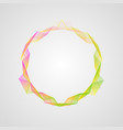 neon effect wavy bright gradient circle frame vector image vector image