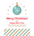 new year background with christmas ball vector image