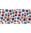new year banner with colorful balls vector image