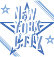 New York City grunge typography poster t-shirt vector image