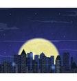 Night city skyline Abstract background Modern vector image vector image