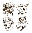 Old vintage tattoo vector image