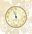 Old watch background vector image vector image