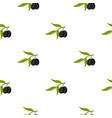 olive pattern flat vector image