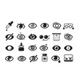 optometry icon ophthalmology symbols eye doctor vector image