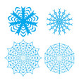 ornate snowflake set vector image vector image