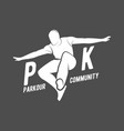 Parkour and free running badges vector image