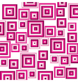 pink suqares pattern background vector image vector image