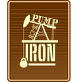 Pump some iron Gym and Fitness Motivation Quote vector image vector image