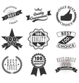 quality emblems and labels vector image vector image