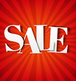 Red Sale Poster With Sunburst vector image