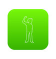 riot of man icon green vector image vector image