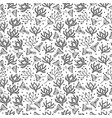 seamless floral pattern in doodle style on white vector image vector image