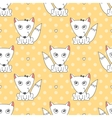 seamless pattern of foxes vector image vector image